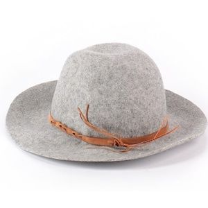 Merona Grey Wool Floppy Hat